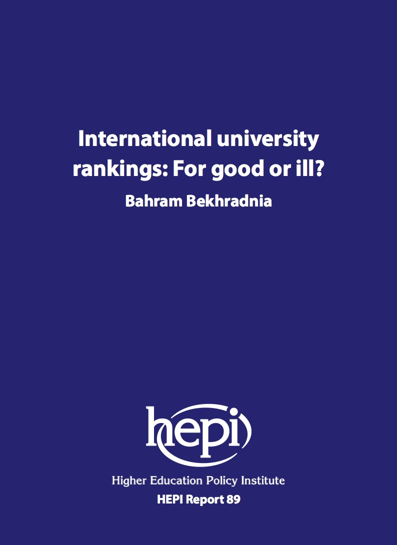 International university rankings: For good or ill?